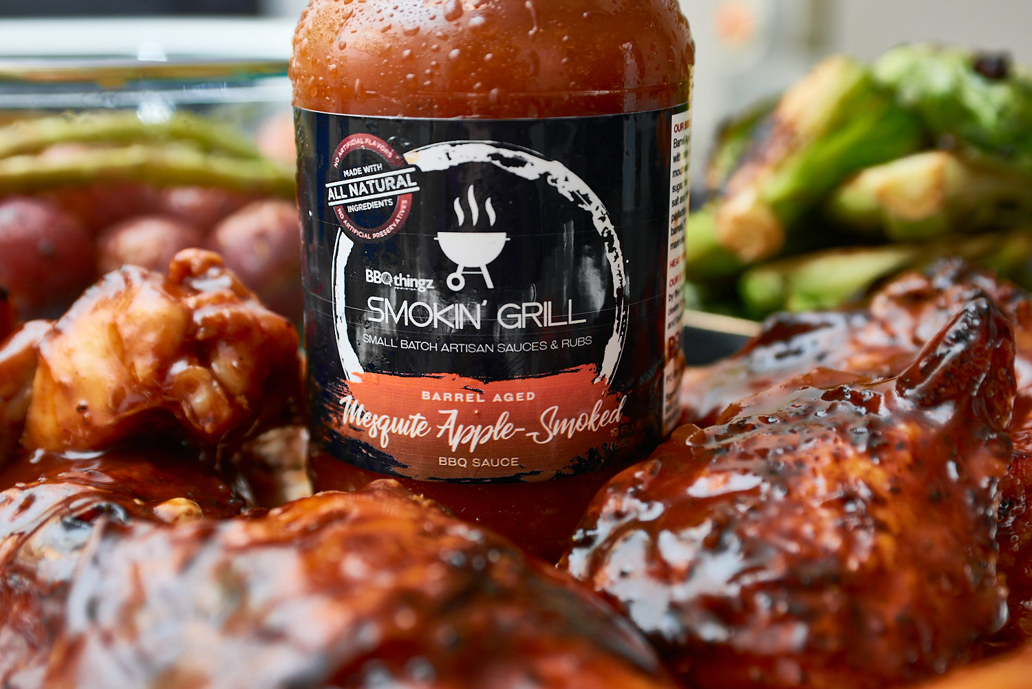 Mesquite Apple-Smoked, Barrel Aged BBQ Sauce Bakell