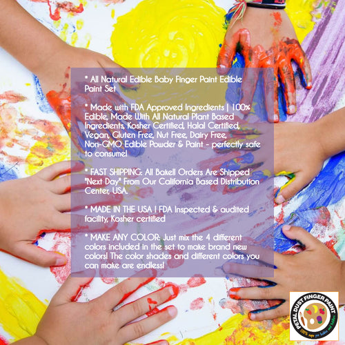 100% All Natural Baby Finger Paint for Babies   Organic & Veggie Based