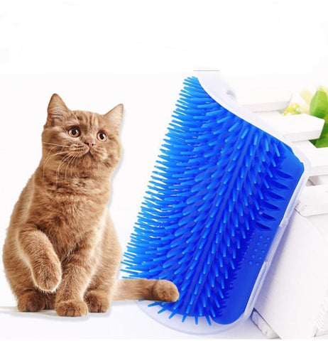 Dispositif de massage et toilettage pour chat