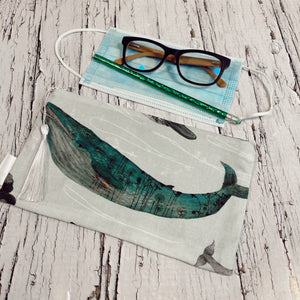 Whale Zippered pouch