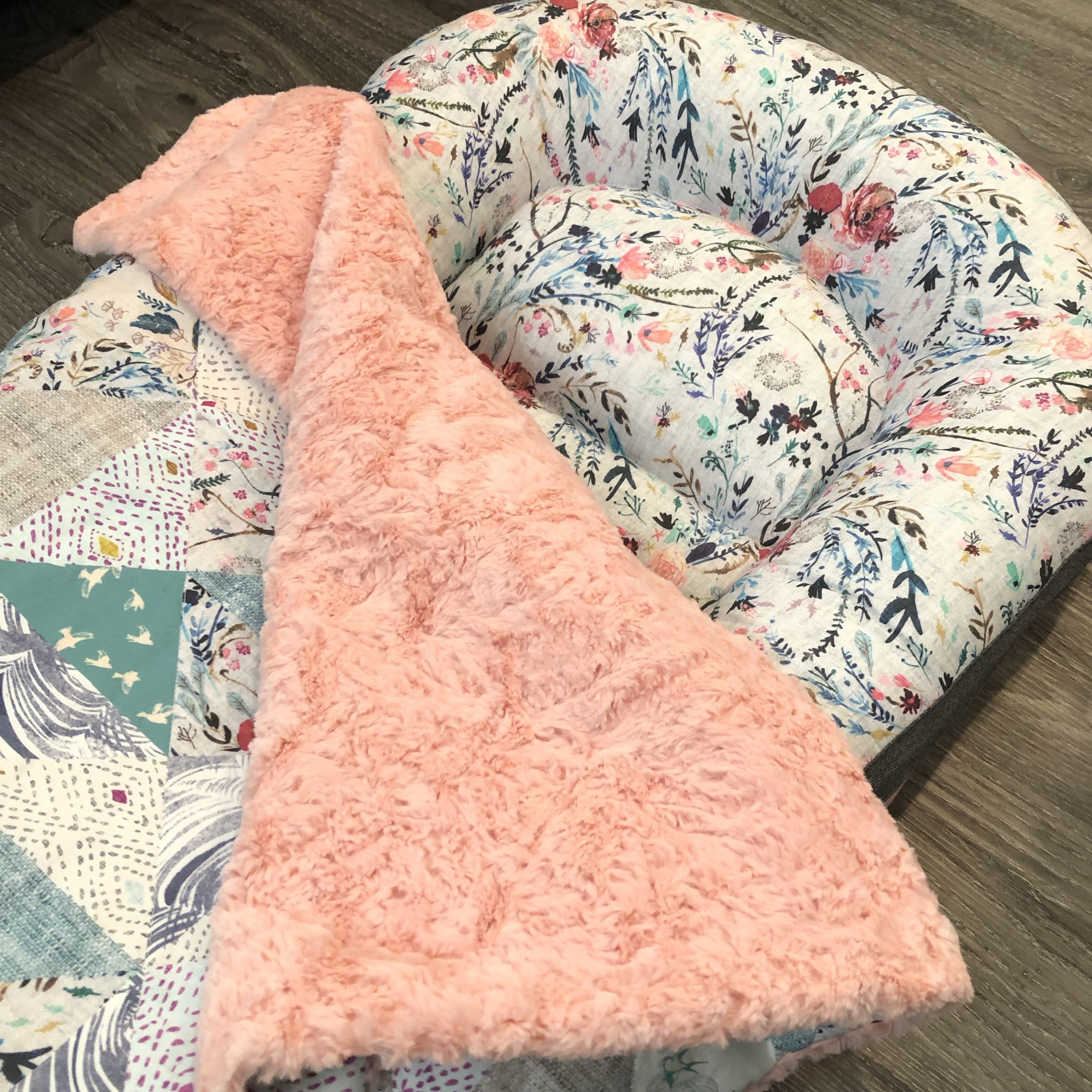 Custom Pre-order Nest + Blanket combo ( choose a nest in any of the 3 sizes )