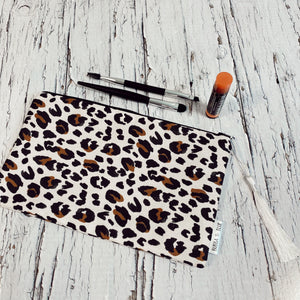 Leopard print Zippered pouch