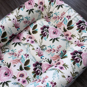 "IN STOCK Toddler ( 37"" inside ) Vintage floral Lounging Baby Nest"