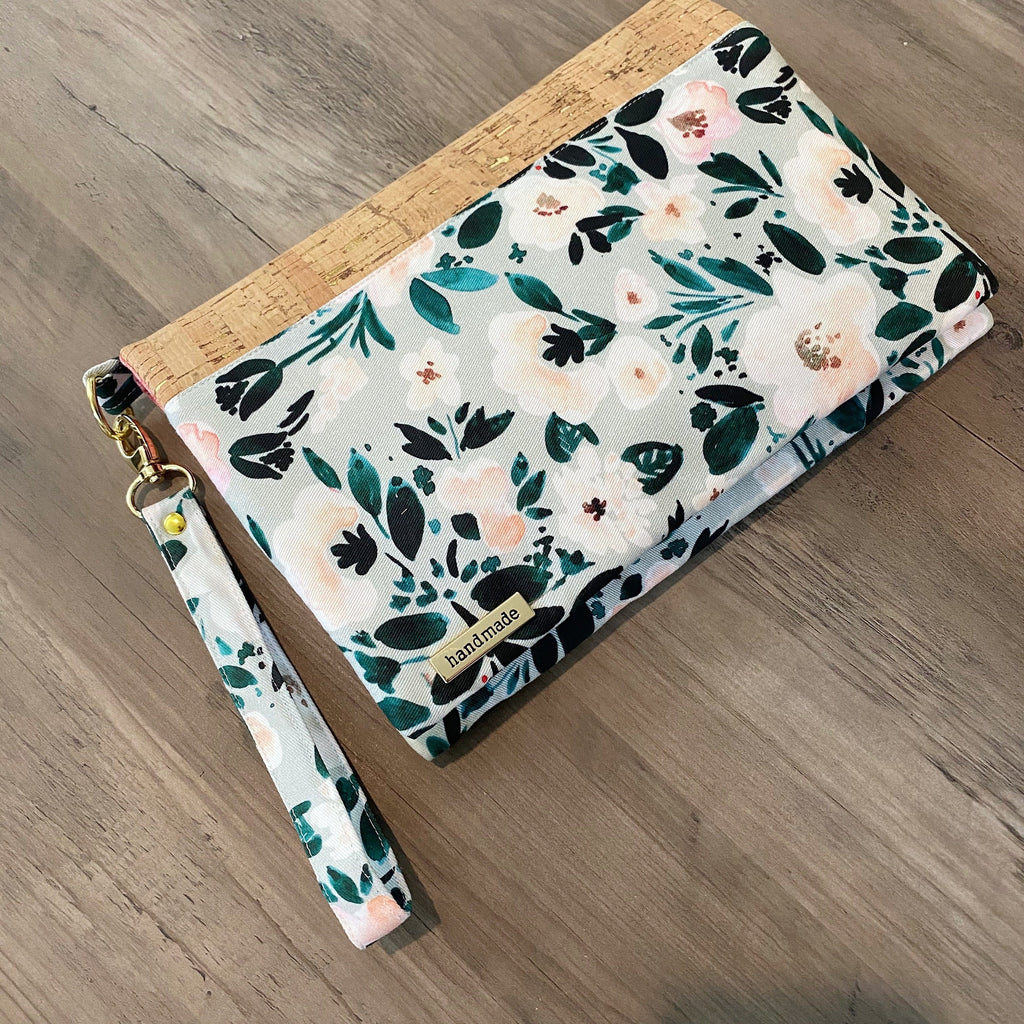 Sadie floral  mom clutch