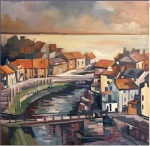 Staithes Village from the Hill - Reproduction