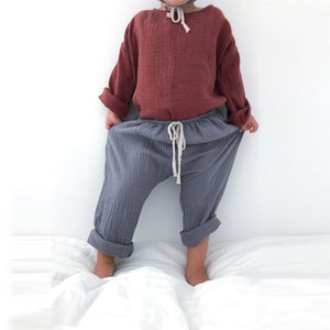Liilu | Baggy Pants | antra blue