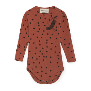Bobo Choses | Bird Long Sleeve Body | rostfarben