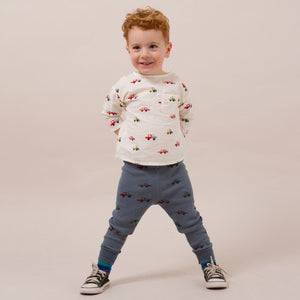 Bobo Choses | Cars Baby Leggings | blau-grau