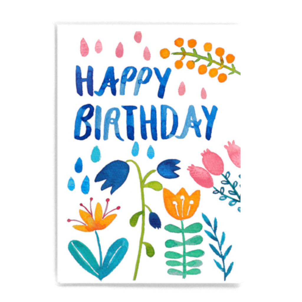 Frau Ottilie | Postkarte Happy Birthday | Bunt