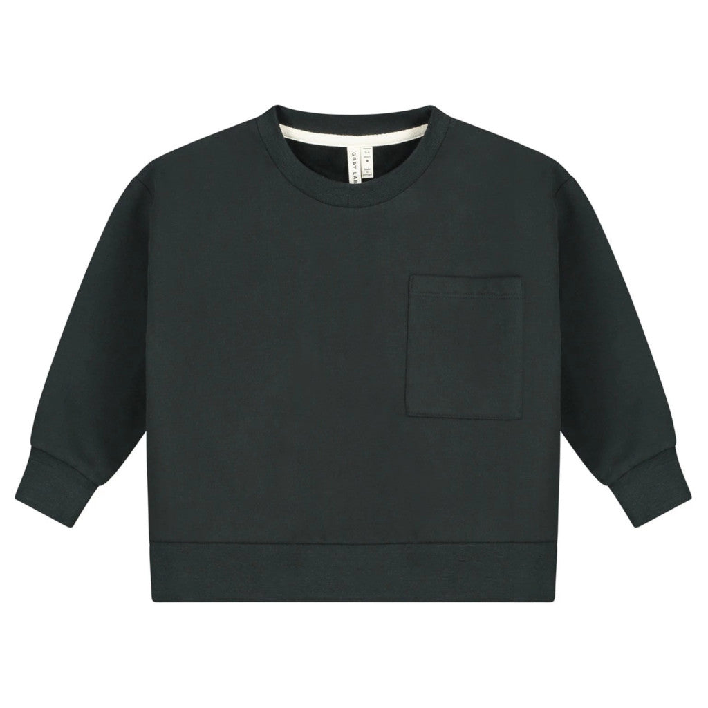 Gray Label | Kinder Boxy Sweater Pullover | Nearly Black Schwarz