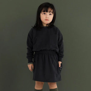 Gray Label | Kinder Boxy Sweater Pullover | Nearly Black Schwarz Model