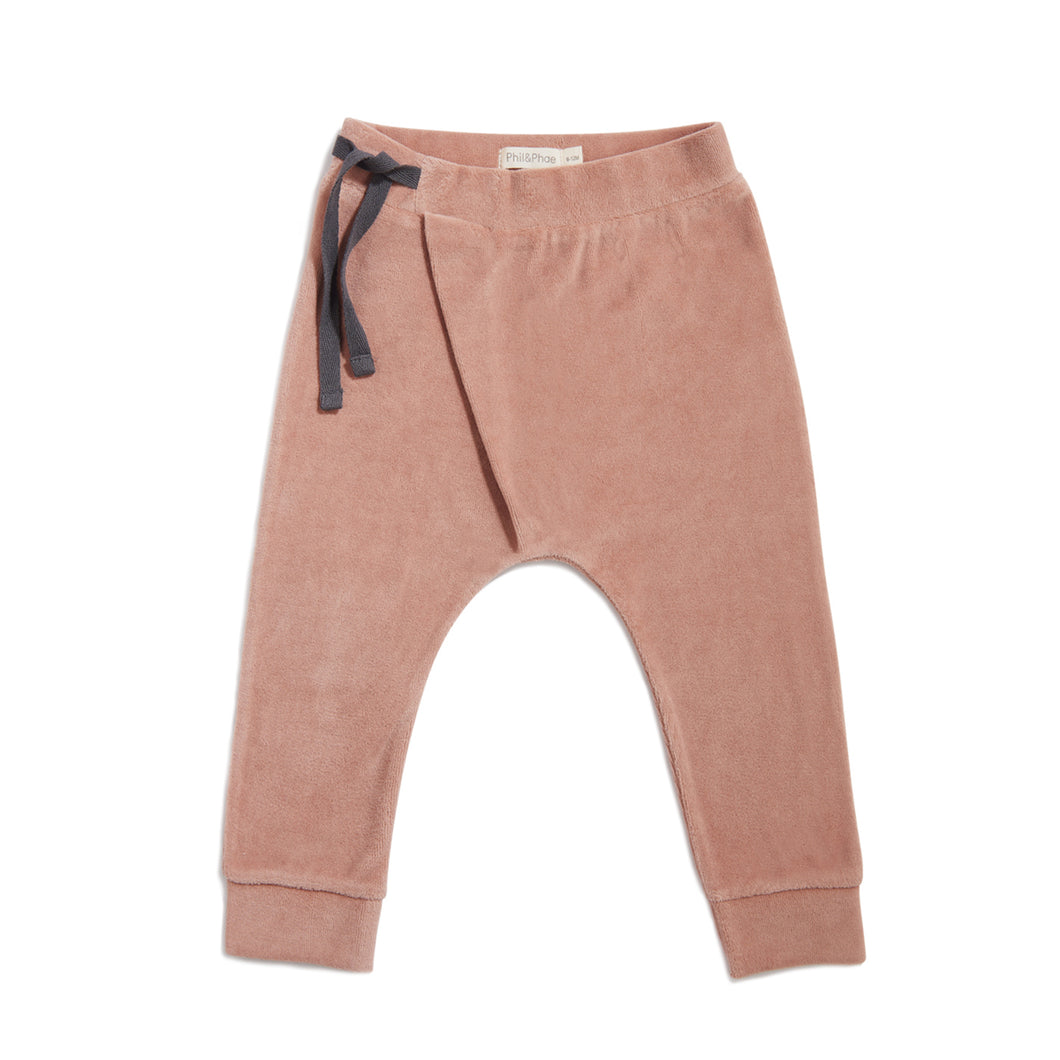 Phil & Phae | Harem Pants Velvet | dusty blush