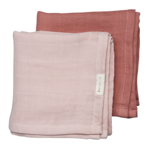 Fabelab | Mulltuch Muslin Cloth 2er Pack | Berry