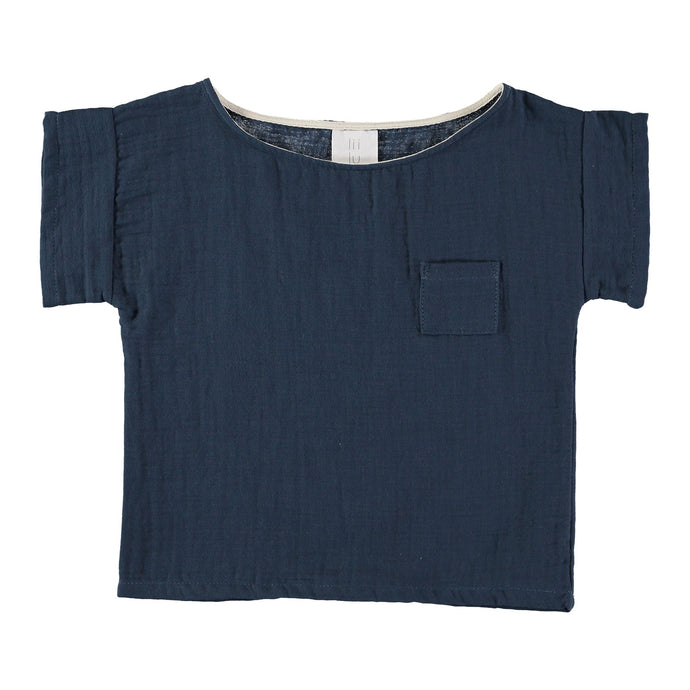 Liilu | Pocket shirt | Antra blue