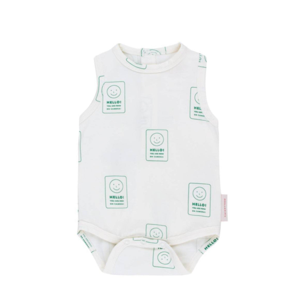 Tinycottons | Body 'hello' | Off-white green
