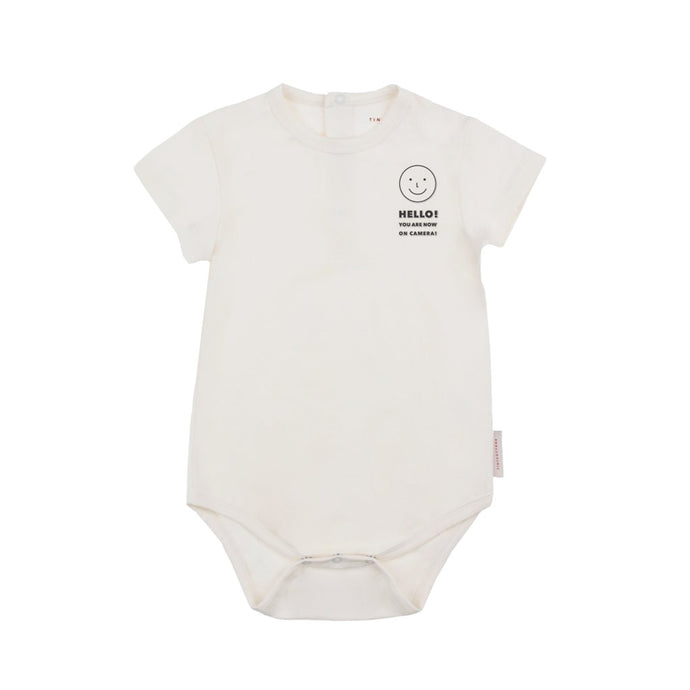 Tinycottons | Body 'hello' | Off-white navy