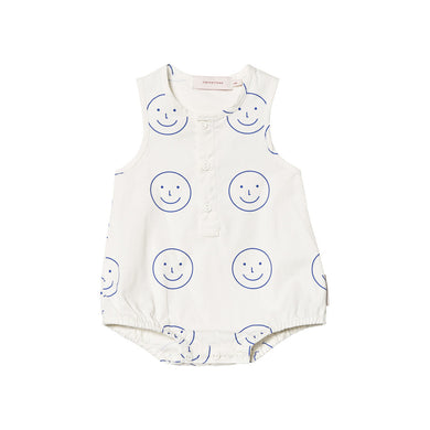 Tinycottons | Body 'happy face' | Off-white navy