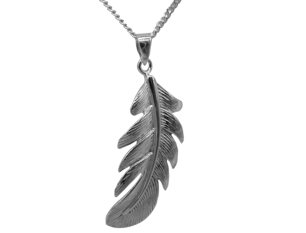 Sonia's Silver Feather Pendant And Chain P 82-15-05-18