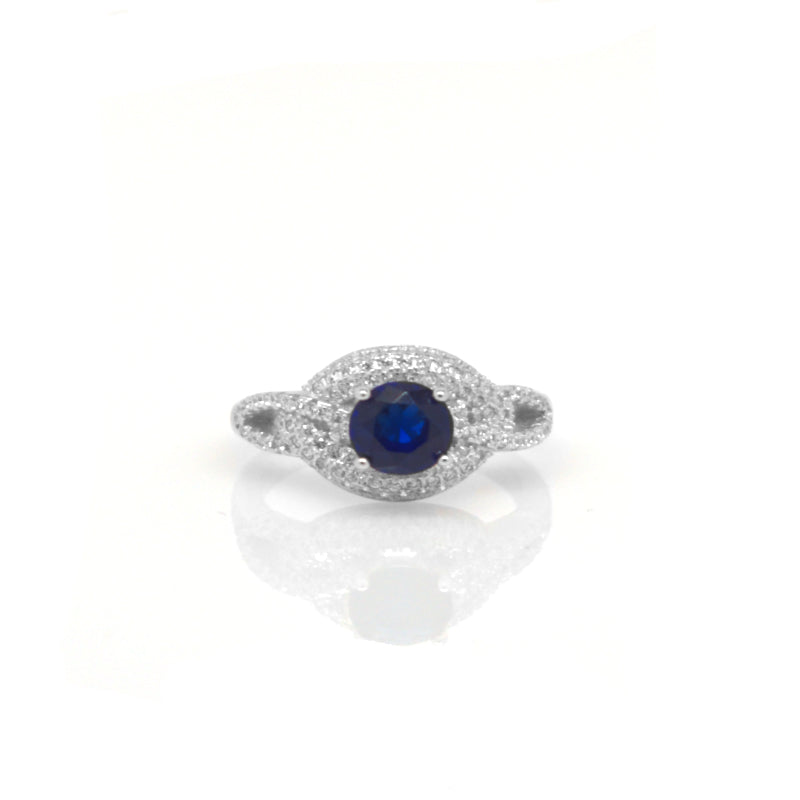 Sapphire Sterling Silver Ring 100-15-05-18