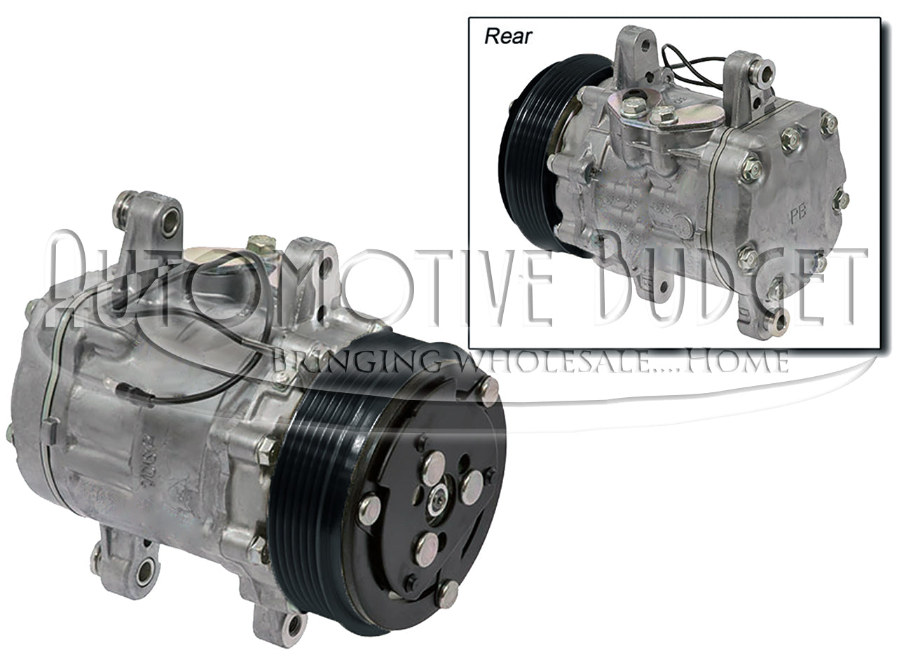 A/C Compressor w/Clutch for Sanden 7176