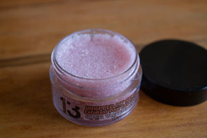 Pomegranate Berry Whipped Sugar Lip Scrub - Top - Pristine Thirteen Naturals