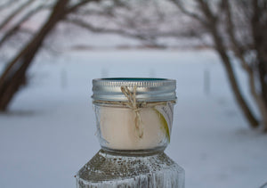 Dark Lavender Soy Candle - Pristine Thirteen Naturals