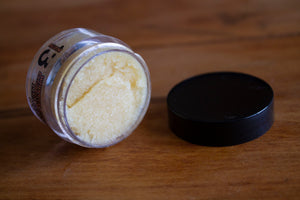 Pina Colada Whipped Sugar Lip Scrub - On Side - Pristine Thirteen Naturals