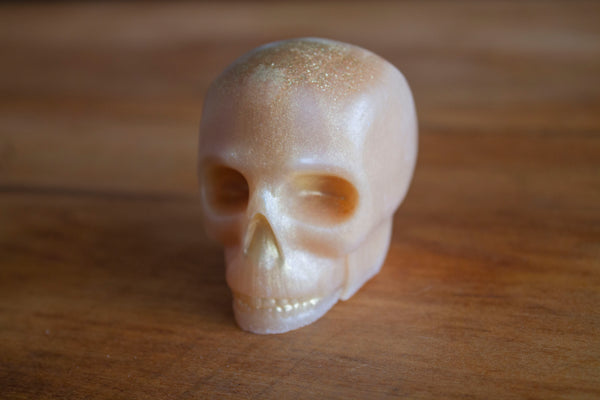 Gold Skull painted Gold, Novelty Skull Soap, Pristine Thirteen Naturals