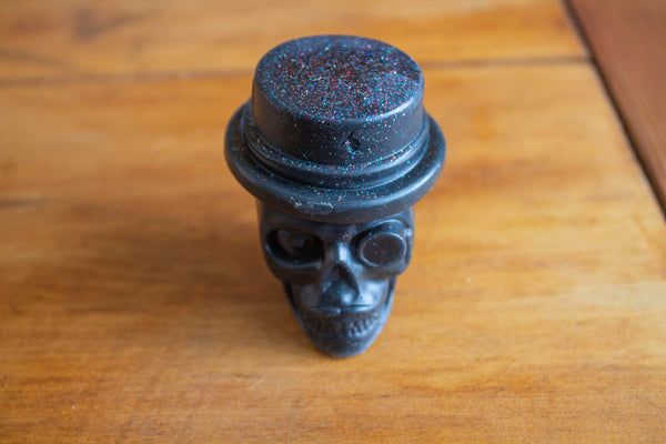 Black, Top Hat Skull Novelty Soap, Pristine Thirteen Naturals