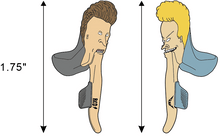 Beavis and Butt-StramRed - Enamel Pin