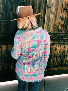Eat Me Flannel - Metallic