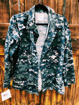 Up-cycled Vintage Navy Jacket