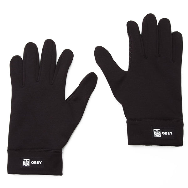 Obey Bold Gloves Black | OBEY Clothing