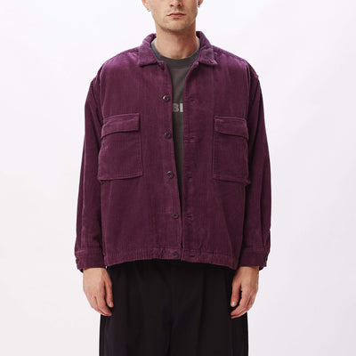 Theo Shirt Jacket Blackberry Wine | OBEY Clothing
