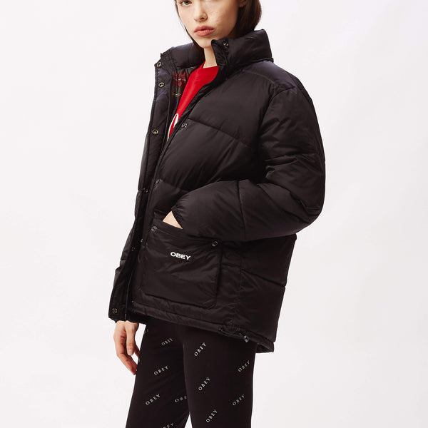 Irving Puffy Coat Black | OBEY Clothing