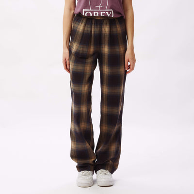Ava Pant Brown Multi | OBEY Clothing
