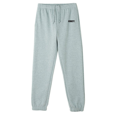 Obey Bold Box Fit Sweat Pant Gey Heather | OBEY Clothing