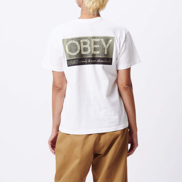 Conformity Standard Custom Box T-Shirt White | OBEY Clothing