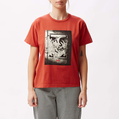 Light In The Tunnel Custom Box T-Shirt Paprika | OBEY Clothing