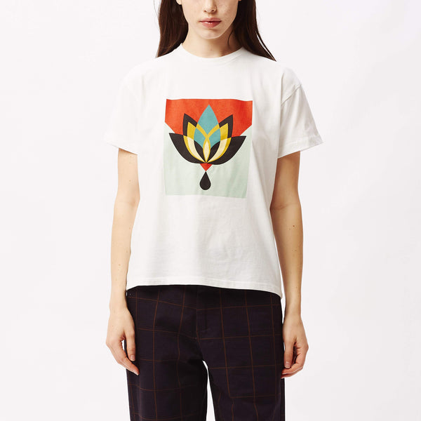 Geometric Flower Sustainable T-Shirt White | OBEY Clothing