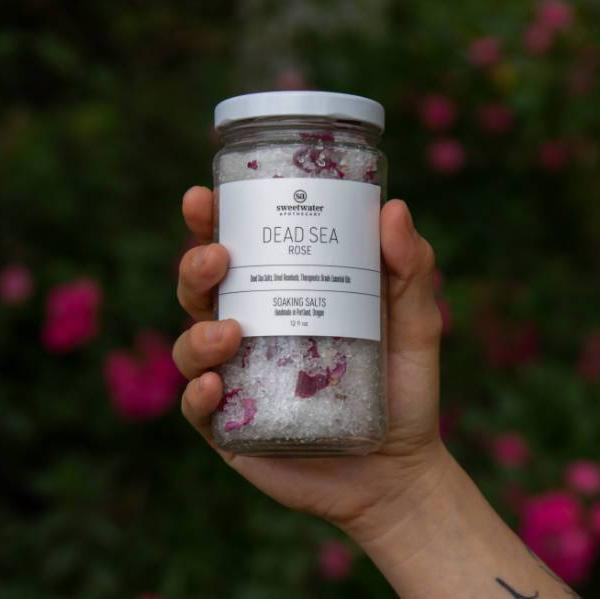 Dead Sea Rose Salt Soak