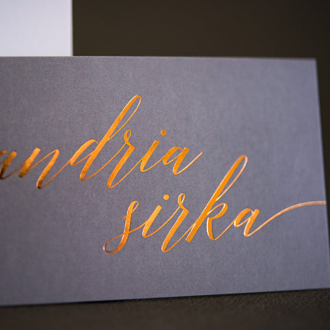 Cotton Letterpress Business Cards