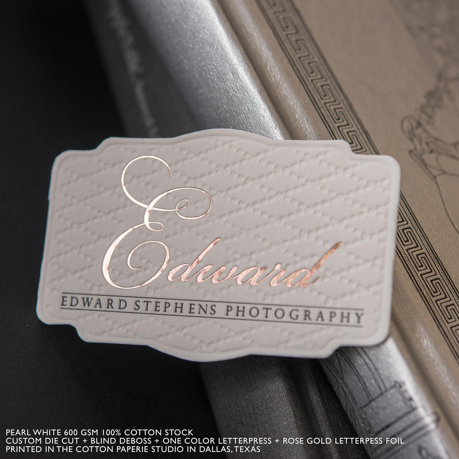Letter press business card akbaeenw letter press business card reheart Images