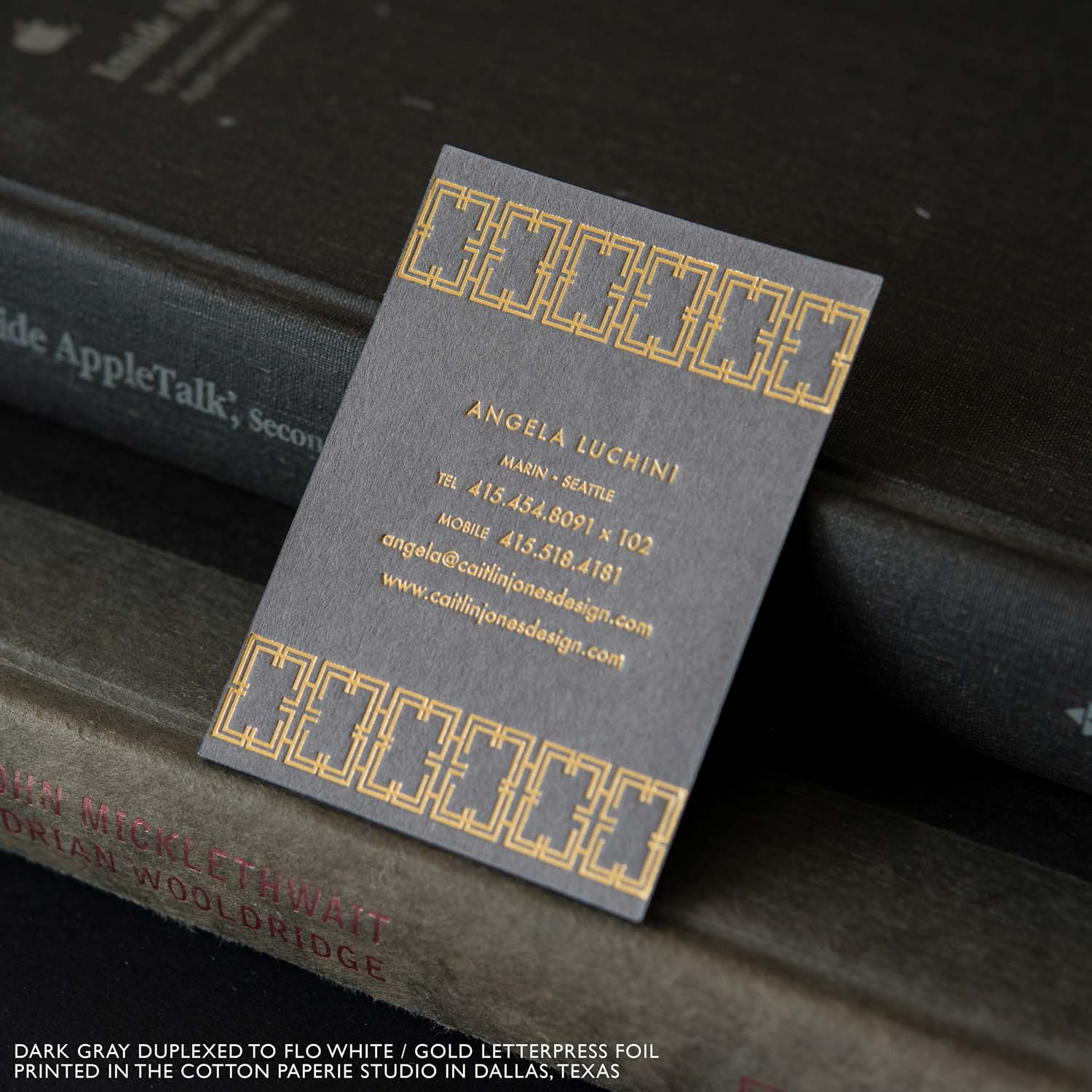 FOIL STAMPED BUSINESS CARDS – Cotton Paperie Letterpress