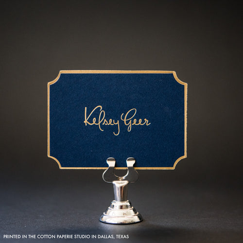 Navy Blue Die Cut Card