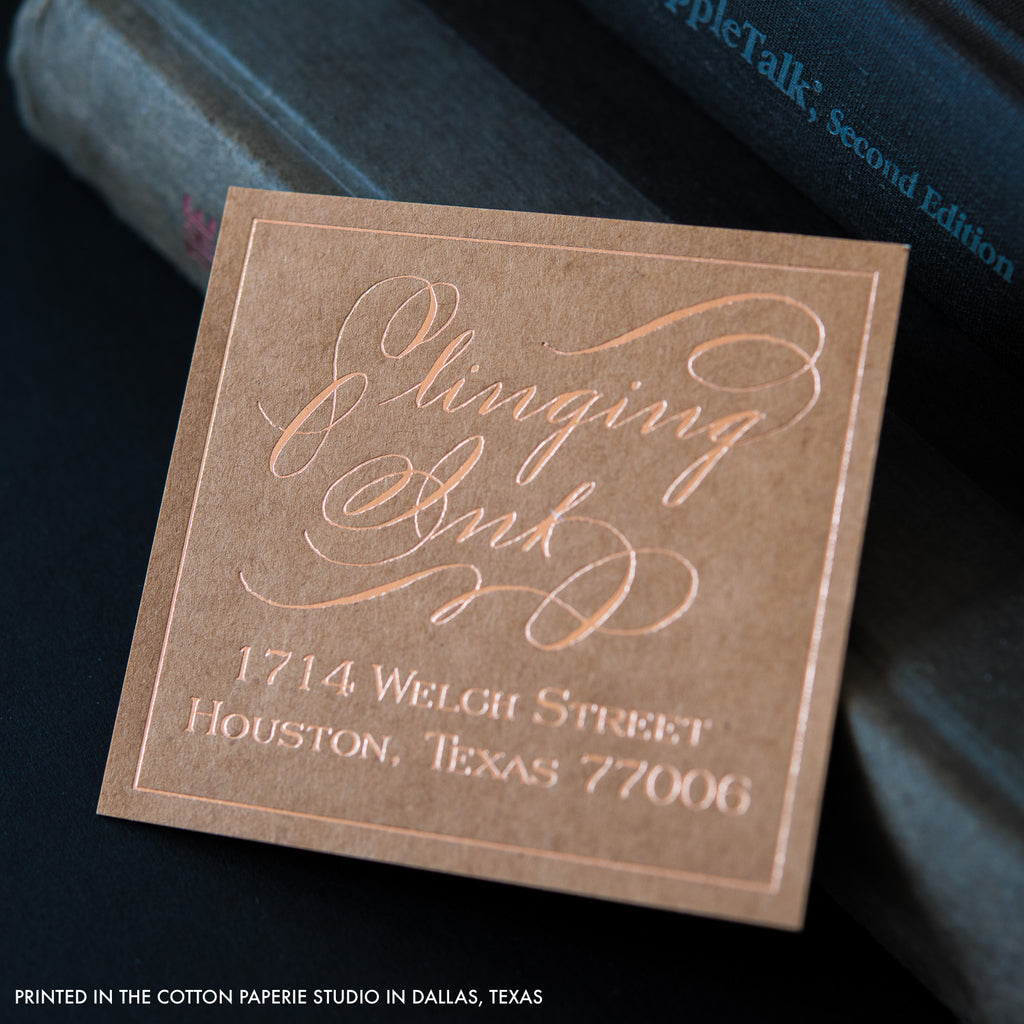 Letterpress business cards gallery cotton paperie letterpress stamp reheart Gallery