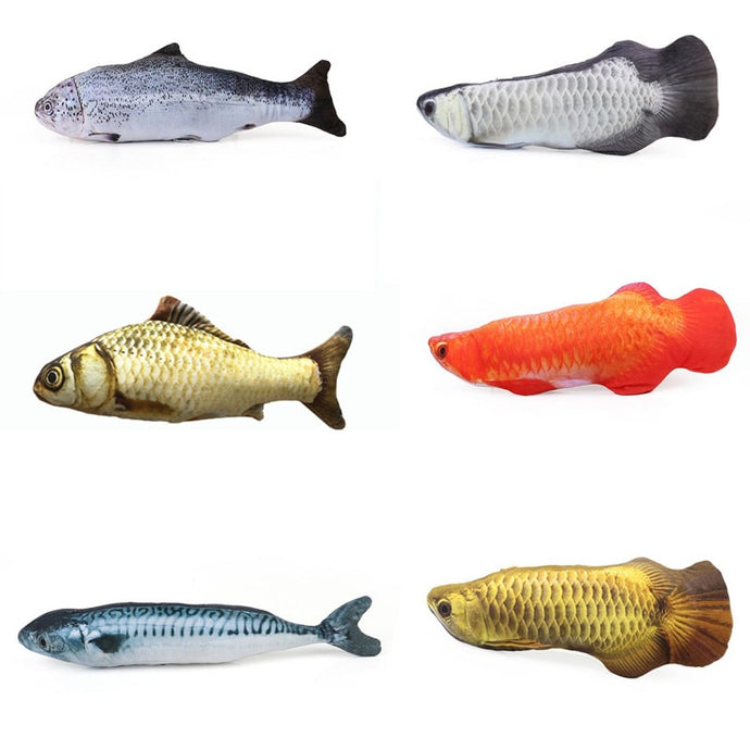 FREE Realistic Looking Fish Kicker Cat Toy