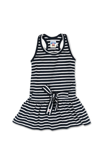 Tennis Litlle Dress Navy Striped