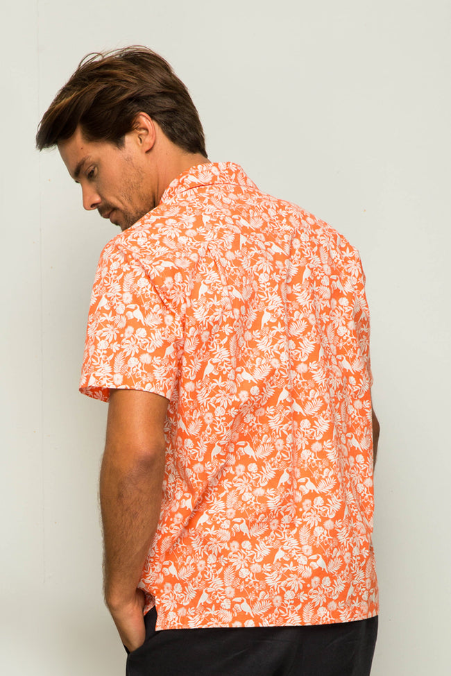 Bali Tropical Shirt S/S Coral