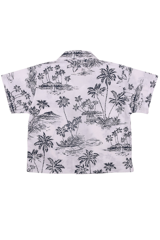 Kid's Bali Tropical Shirt S/S Navy